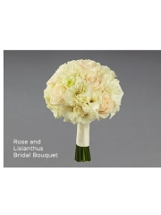 Rose and Lisianthus Bridal Bouquet